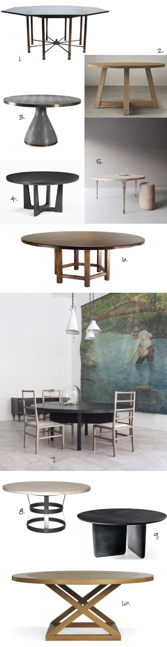 top ten round dining tables_Kristina Crestin Design