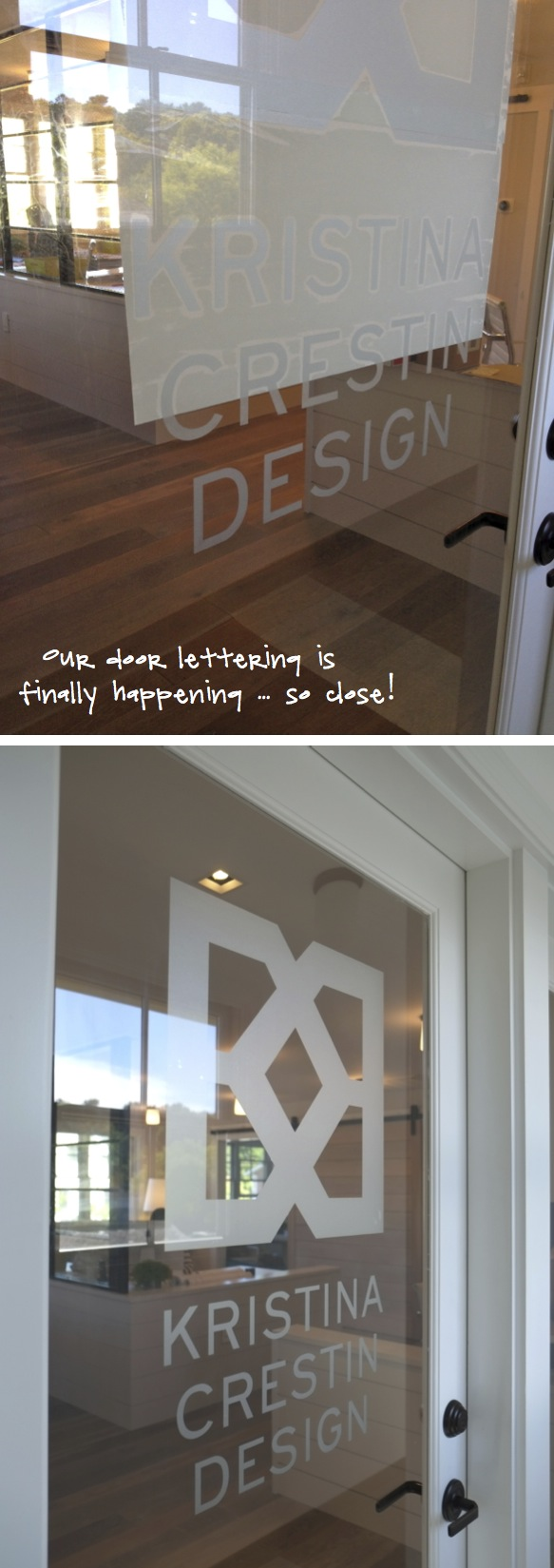 Kristina Crestin Design_Office door lettering A