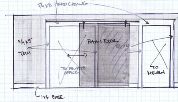 Kristina Crestin Design_barn door B sketch