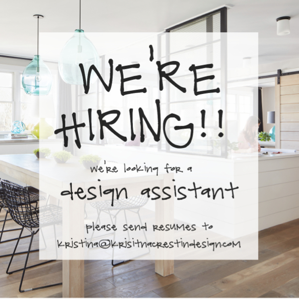 kristina crestin design is looking for a design assistant
